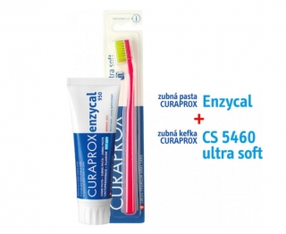 Curaprox Enzycal zubná pasta 75 ml + Curaprox ZK 5460 Ultra Soft