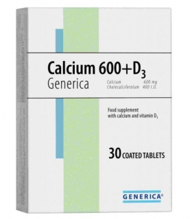 Generica Calcium 600 D3 30 tabliet